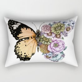 Butterfly in Bloom II Rectangular Pillow