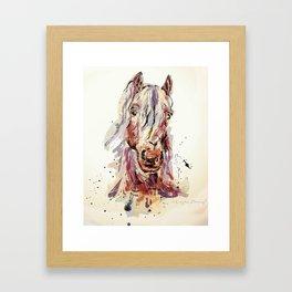 Sepia horse Framed Art Print