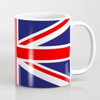uk Mugs featuring UK Flag by TilenHrovatic