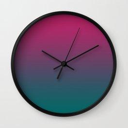Pink Green Gradient Pattern Wall Clock