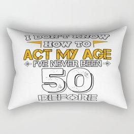 Birthday Gift 50 Years Fifty Born 1968 Rectangular Pillow