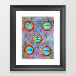 SITUATIONS Framed Art Print