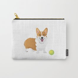 Corgi Dog with a Green Ball Carry-All Pouch