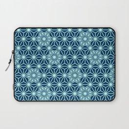 Japanese Asanoha or Star Pattern, Indigo Blue Laptop Sleeve