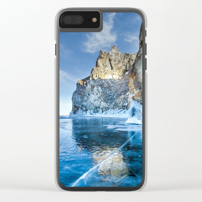 Blue Ice of the Lake Baikal Clear iPhone Case