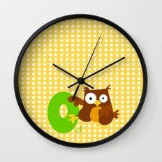 o for owl Wall Clock