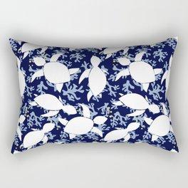 LeatherBack Sea Turtle print pattern Nautical Rectangular Pillow