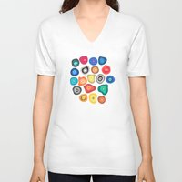 biology V-neck T-shirts featuring CELLS by THE USUAL DESIGNERS