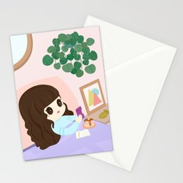 Plant Lady Breakfast in Bed  Stationery Cards
