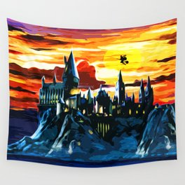 Hogwarts Castle At Sunset Wall Tapestry