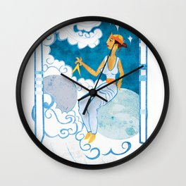 Muse of Astronomy Wall Clock