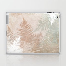 Fern Snowflakes - Golden, bronze & Sage Laptop & iPad Skin