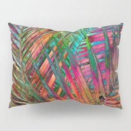 Multicolor Palm Leaves Pillow Sham