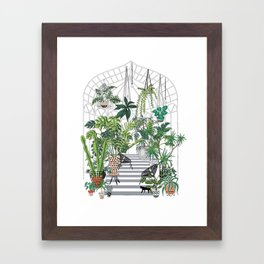 greenhouse illustration Framed Art Print