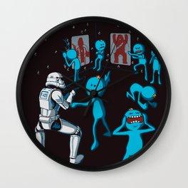 Meeseeks Teaching a Stormtrooper How To Shoot Wall Clock