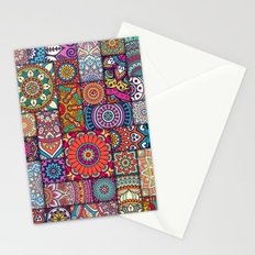 Boho Patchwork Quilt Pattern 2 Stationery Cards