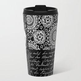 Black and white lace Travel Mug