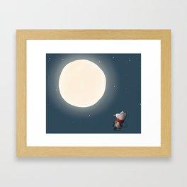 Little Mouse - Full Moon Framed Art Print