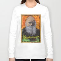 darwin Long Sleeve T-shirts featuring Charles Darwin by Ibbanez