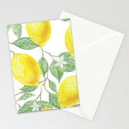 Lemons and Flowers Stationery Cards