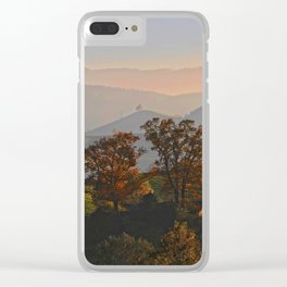 Hilly Landscape Clear iPhone Case