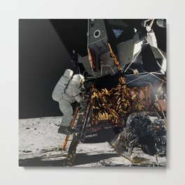 NASA Apollo 12 Lunar Module Space Craft - Astronaut Alan L. Bean 1969 Print Metal Print