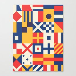Maritime Nautical Signal Flags Canvas Print