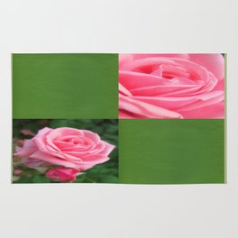 Pink Roses in Anzures 2 Blank Q5F0 Rug