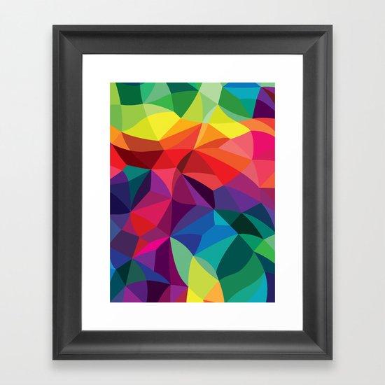 Color Shards Framed Art Print
