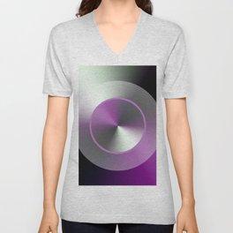 Serene Simple Hub Cap in Purple Unisex V-Neck
