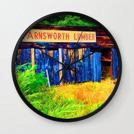 Farnsworth Lumber Yard Wall Clock