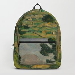 """Paul Cezanne """"Mountain Sainte-Victoire and the Viaduct of the Arc River Valley"""" Backpack"""