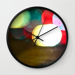 Northern California Lights Wall Clock