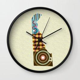 Delaware Map Wall Clock