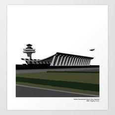 Dulles International Airport, Eero Saarinen - Modern architecture series  Art Print