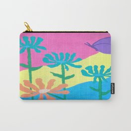 Spring Flowers and Butterfly Carry-All Pouch