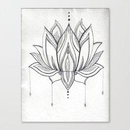 Handmade Mandala Lotus Canvas Print