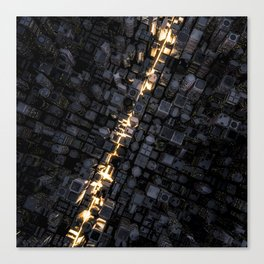Fast lane city Canvas Print