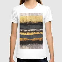 Golden Ocean Waves #1 #abstract #painting #decor #art #society6 T-shirt