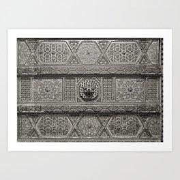 Islamic Design Roof Damascus Carving Art Print