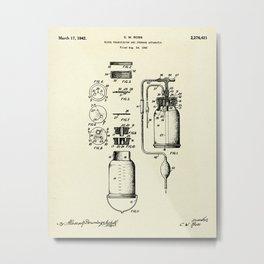 Blood Transfusion and Storage Apparatus-1942 Metal Print