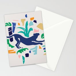 Modern Shapes / Panther and Palm Stationery Cards