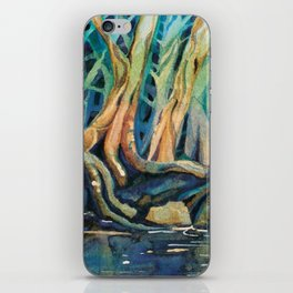 Kingfisher Forest iPhone Skin