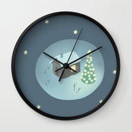 Christmas night Wall Clock