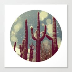 Space Cactus Canvas Print