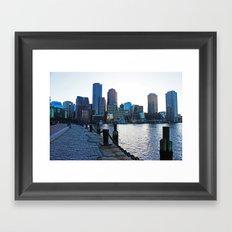 Harborwalk  Framed Art Print