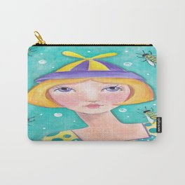 Whimiscal with Bees Carry-All Pouch