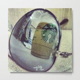 Aviator Starbucks Metal Print