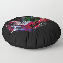 cars painting Floor Pillow