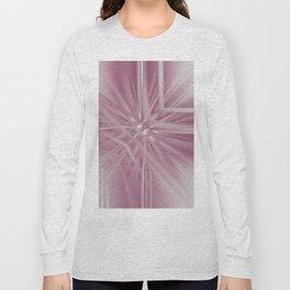 Reflecting Pastel Pink Abstract Long Sleeve T-shirt